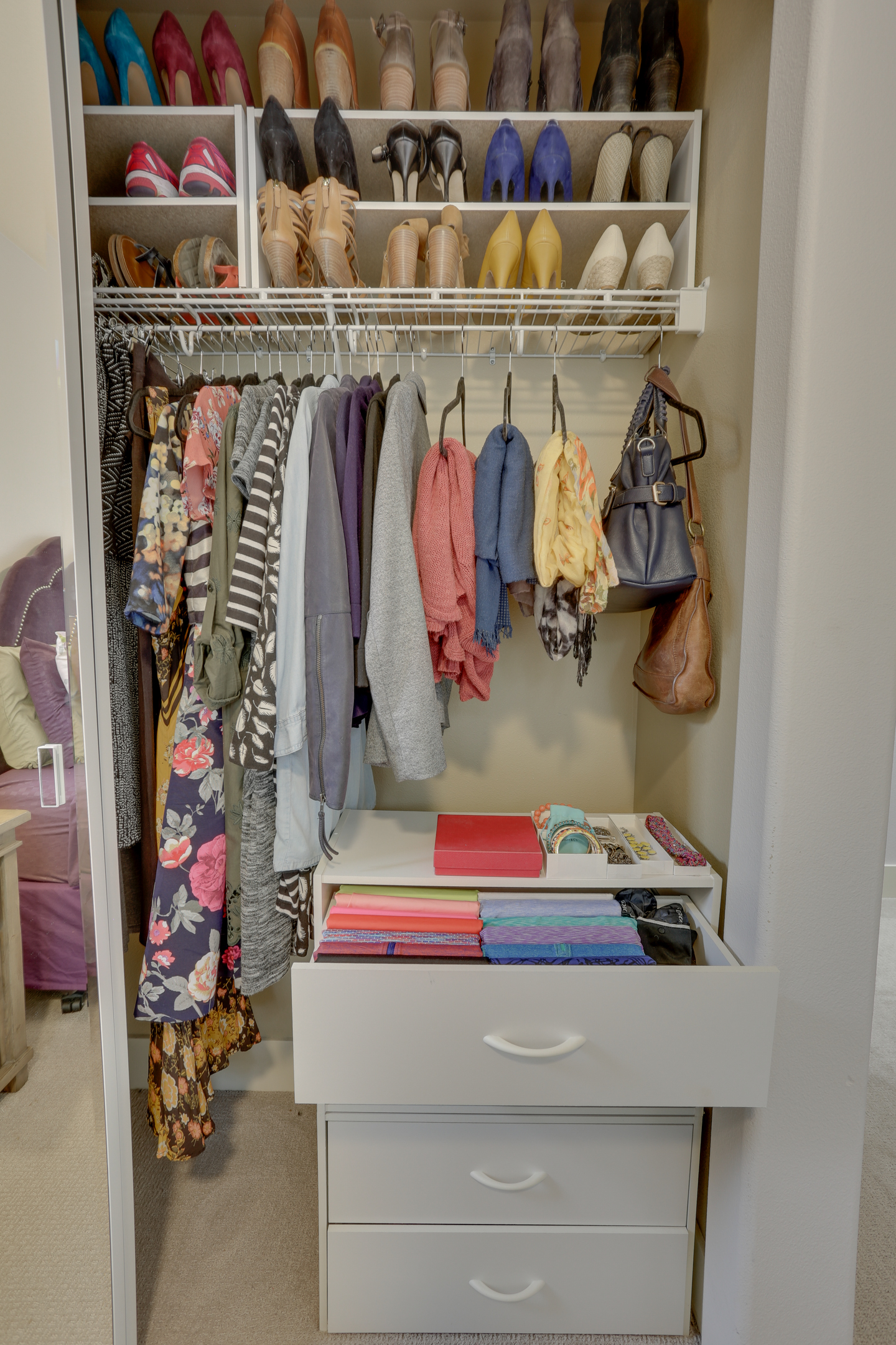 In Most Closets, I Notice That People Tend To Store Shoes On The Closet  Floor, Usually In One Of Those Shoe Racks That Impales The Shoe On A Wire  Rack.