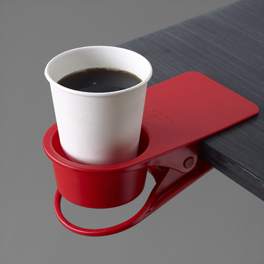 A good cup of coffee may be the key to your productivity. Coffee holder from MOMA store.