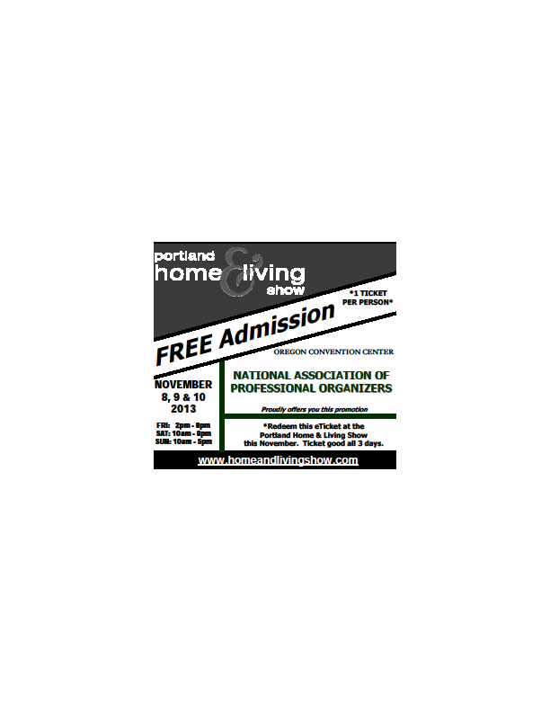 portland home and living show ticket