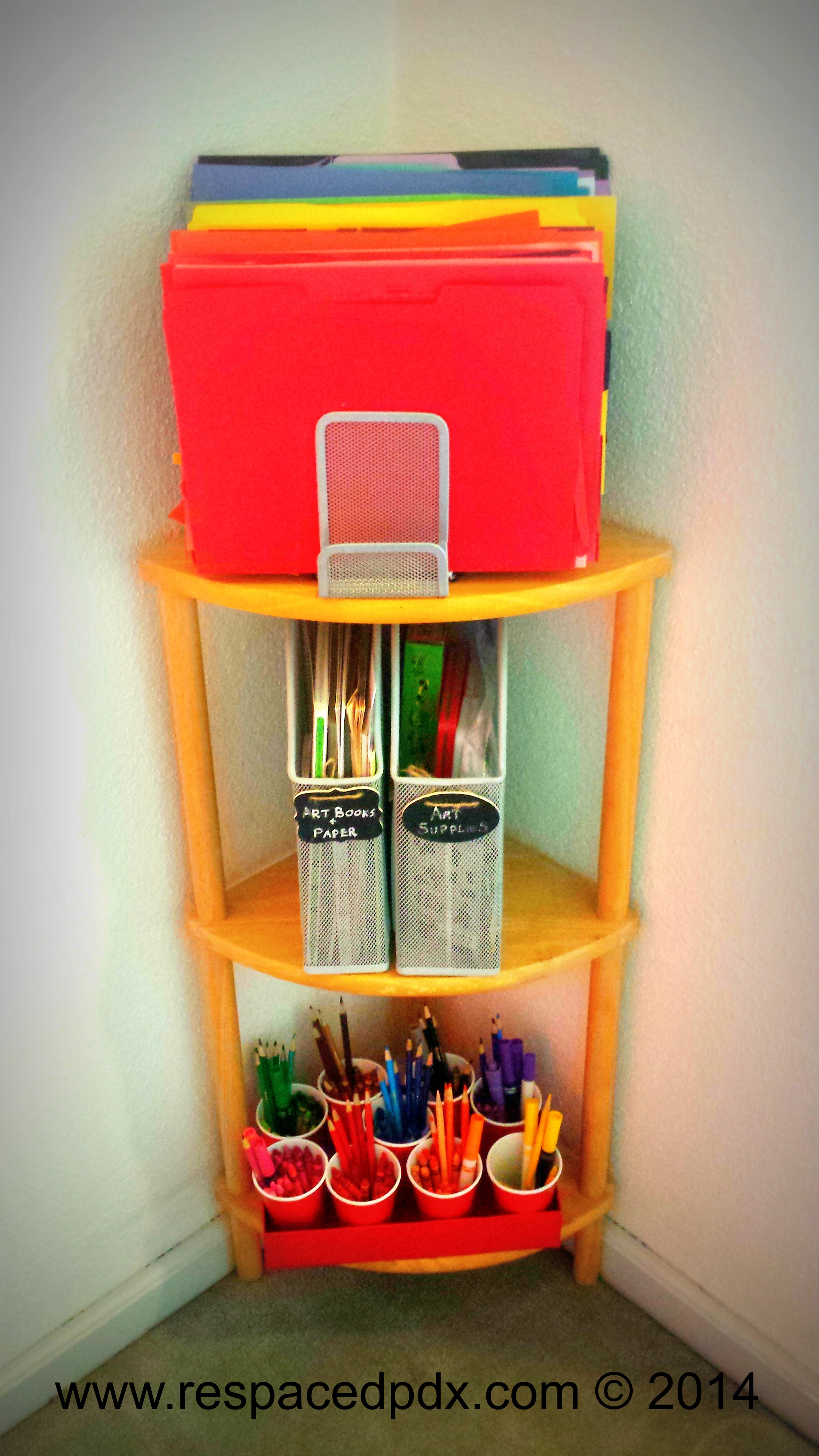 Easy cheap diy way to organize kids 39 art supplies for Where to buy cheap craft supplies