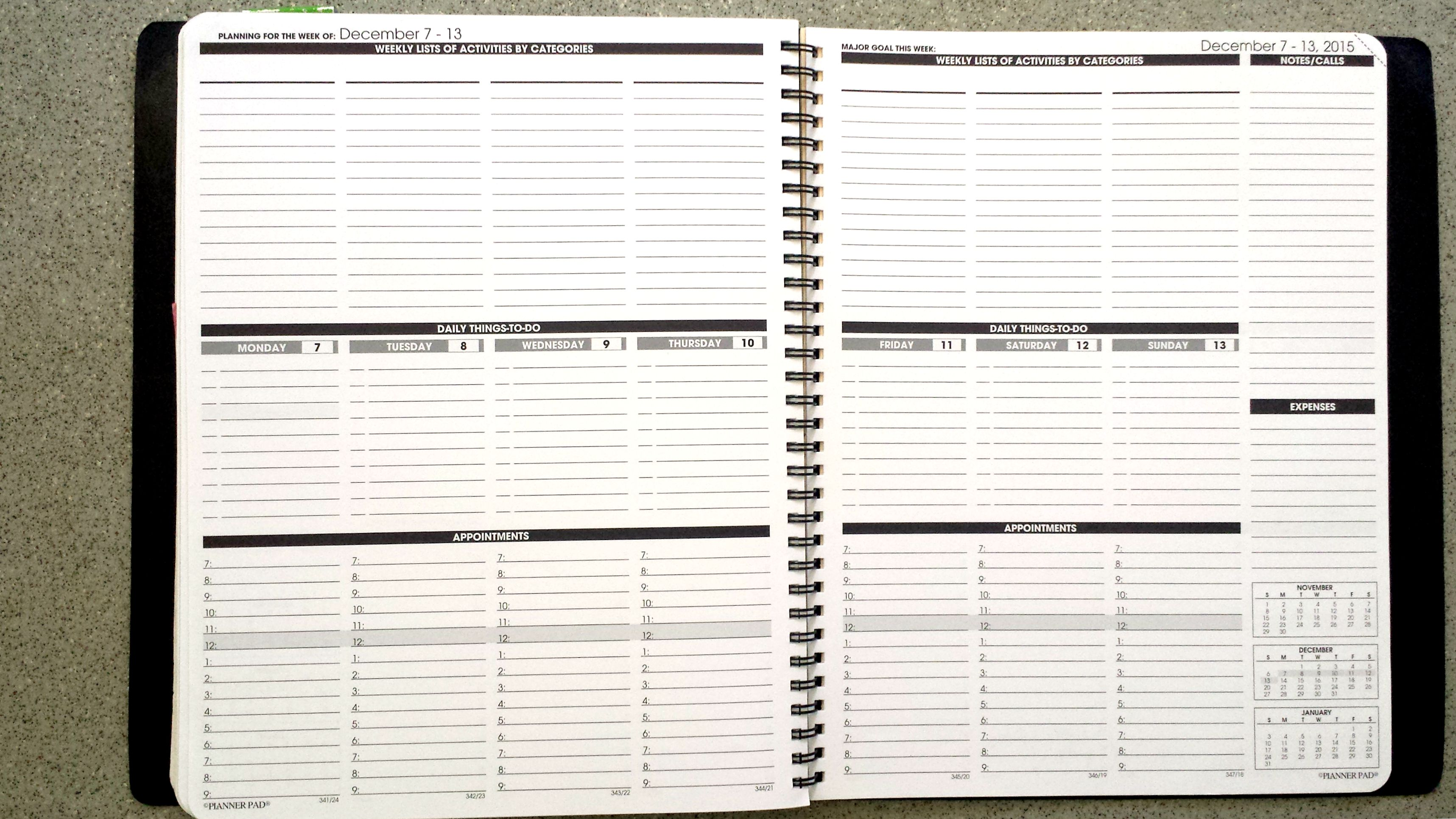 professional daily planner