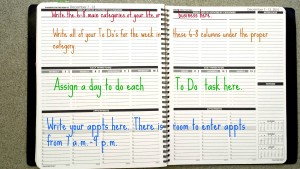 Planner Pad colored how to