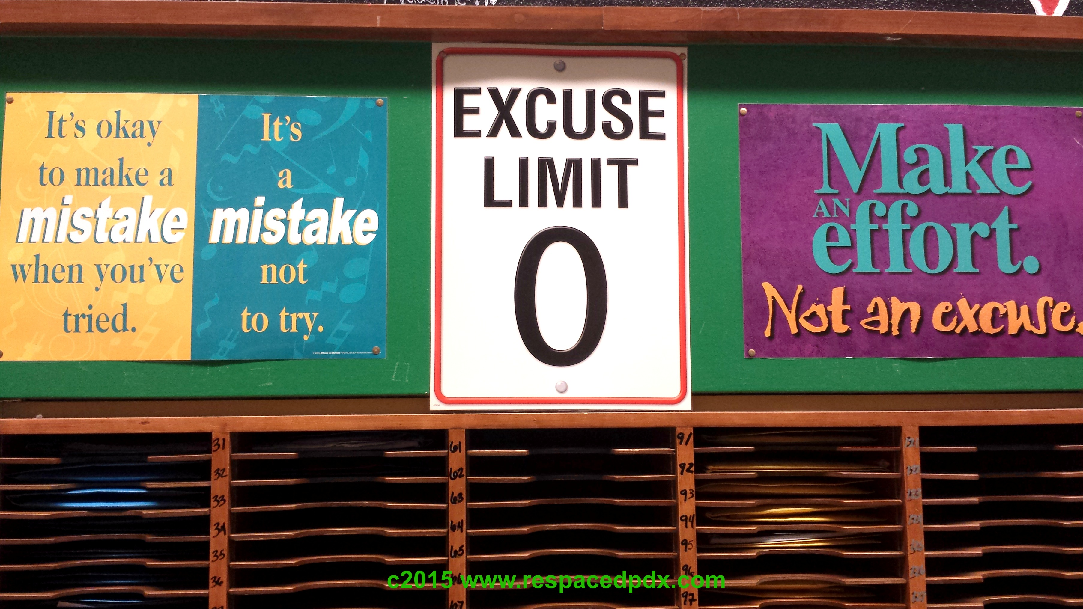 Excuses posters